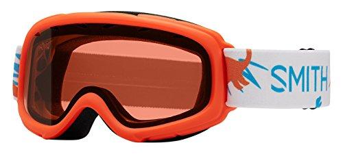 Smith Optics Gambler Youth Junior Snowmobile Goggles Neon Orange Dinos / RC36