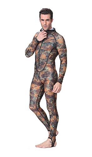 DIVE & SAIL Skin Diving Camouflage Zipper Quick Dry UV Su...