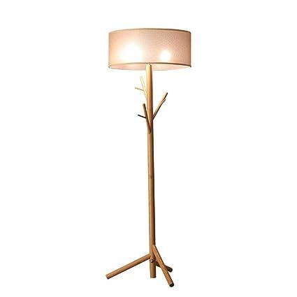 Amazon Com Led Floor Lamp Standing Solid Wood Creative