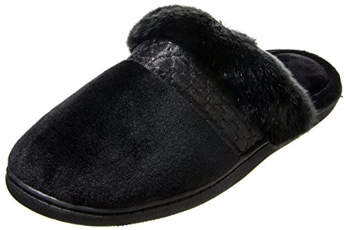 5 Medium Clog Black Velour Isotoner 7 Diane 8 Women's 6qw0pzSA
