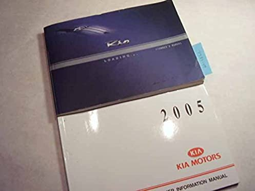 2005 kia rio owners manual kia amazon com books rh amazon com 2005 kia rio service manual 2006 Kia Rio