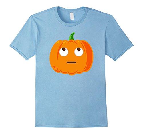 Mens Emoji T-Shirt Eyes Looking Up Halloween Emoji Costume Medium Baby Blue