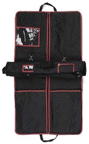 Highland Dress Garment Bag Set with Suit Carrier & Kilt Roll Red Trim