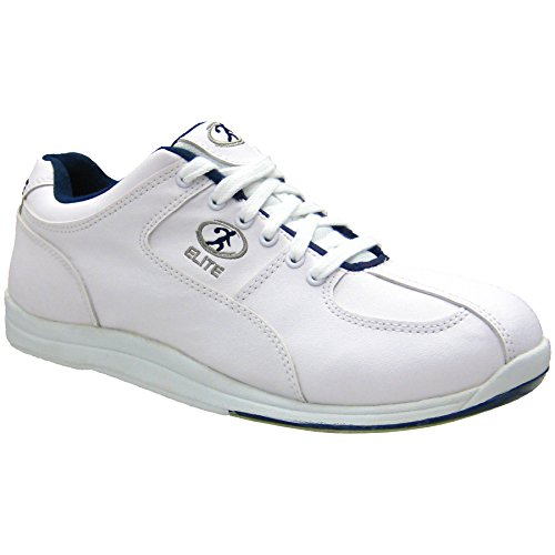 Elite Atlas weiß / blau Bowling Schuhe - Herren