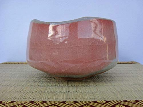 Matcha bowl 4.72''dia. Japanese tea cup for tea ceremony, crackle glaze pattern authentic Made in Japan M5915