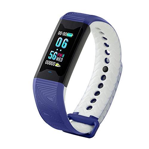 Bleu GXLO Fitness Tracker Moniteur de fréquence Cardiaque Tracker Activité étanche Smart Bracelet Santé Montre Sport Montre Podomètre Bracelet Sommeil Moniteur