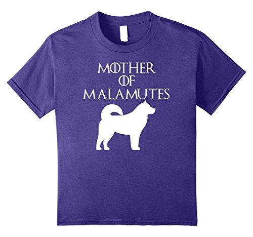 Kids Mother of Malamutes | Alaskan Malamute Dog T-Shirt & Gift 10 Purple