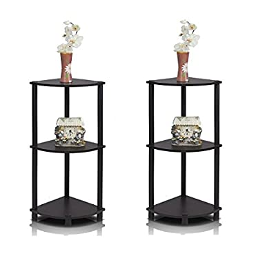 Furrino Turn'n'Tube 3-Tier Corner Display Rack Multipurpose Shelving Unit - Pack Of 2