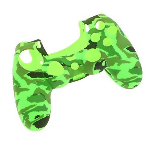 Sharplace シリコンケース スキン カバー ケース プレイステーション4 PS4コントローラ用 高性能  薄型 全9色 - 緑