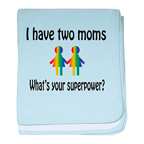 CafePress I Have Two Moms, Whats Your Super Pow Baby Blanket, Super Soft Newborn Swaddle
