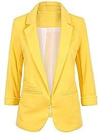 Amazon.com: Yellow - Blazers / Suiting & Blazers: Clothing, Shoes ...
