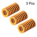 uxcell 14mm OD 25mm Long Spiral Stamping Light Load Compression Mould Die Spring Yellow 3Pcs