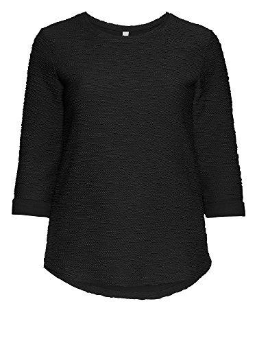 sheego Casual Suéter tallas grandes 100 % algodón Mujer negro