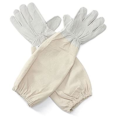 Alles Goat Leather Beekeeping Gloves with Vented Sleeves, 1 Pair