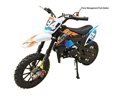 2019 SYX Kids Dirt Bike, Mini-Motorcycle, 50cc 2-stroke, gas powered (Black) (50cc Bike Dirt Motor)