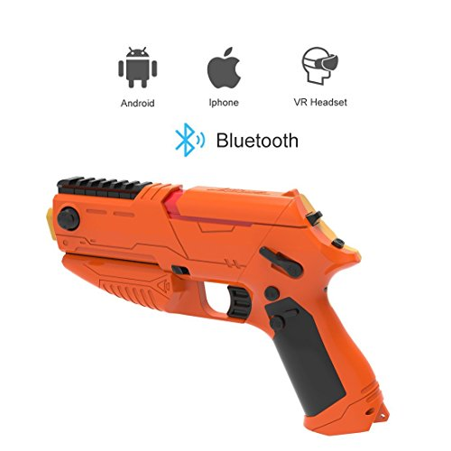VR Gun Wireless bluetooth VR Gun for HTC VIVE Game Shooting Controller Joystick TPS FPS with Motor Vibration gamepad for 4 to 6 inch all Smartphone iPhone Samsung Tablet Ipad ISO / Android