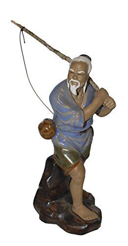 Chinese Fisherman Statue - Fisherman Chinese Figurine