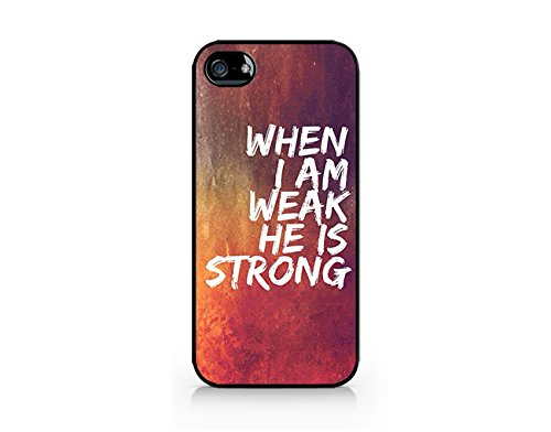 Amazon com: When I Am Weak He is Strong - Inspirational