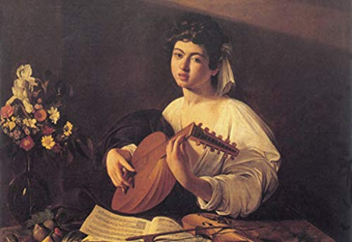 ArtParisienne The Lute Player Caravaggio 24x36-inch Wall Decal
