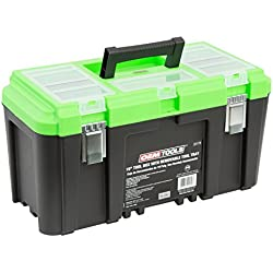 """OEMTOOLS 22179 19"""" Tool Box with Removable Tool Tray"""