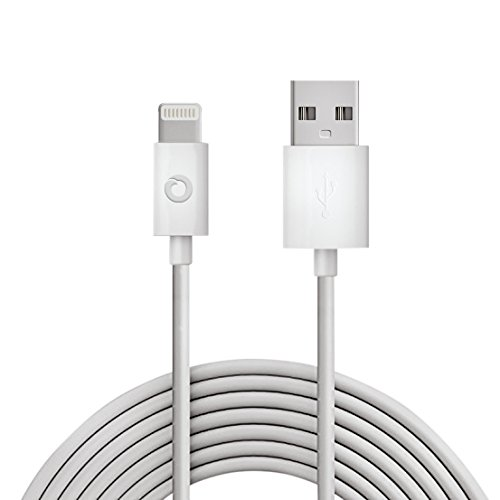 Noubco Lightning to USB Cable | Apple MFi Certified | Compatible with iPhone, iPad, iPod Touch, and Beats Pill+ | White, 6.6 feet (2 - Touch Usb For Cord Ipod