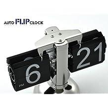 a2z Retro auto Flip Down Metal Stand Desk Table Clock