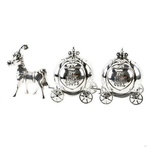 Silverplated Cinderella Carriage First Curl & Tooth (Dispatched from UK) by Widdulph   B01N1L2X6A