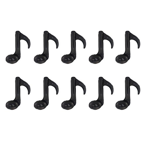 MonkeyJack 10 Pieces Single Music Note Foil Balloons Birthday Party Dance Prom Band School Concert Decoration Accessory - Black ()