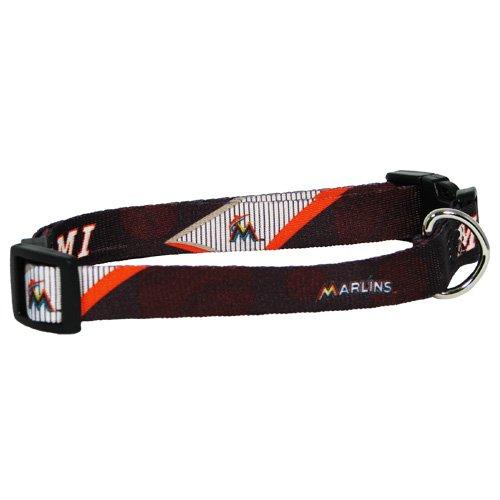 MLB Miami Marlins Adjustable Pet Collar, Team Color, Small