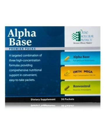 Ortho Molecular - Alpha Base Premier Packs - 30 CT -