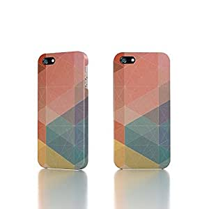 Apple iPhone 4 / 4S Case - The Best 3D Full Wrap iPhone Case - Pastel Polygon Pattern