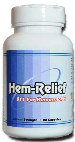 Hem-Relief pour hémorroïdes (Strength clinique 90 capsules)