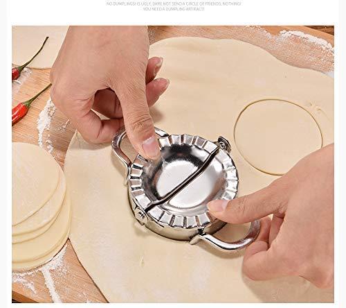 Uteruik - Molde para Hacer Pierogi de Acero Inoxidable con diseño de Calzone Ravioli Empanada: Amazon.es: Hogar