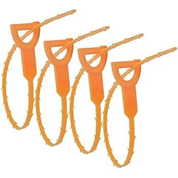 4 Pack Hair Drain Clog Remover Ishua Drain Snake Cleaning