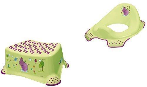 2er Set Hippo Green Toilet Seat + Stool Toilet Trainer OKT Kids