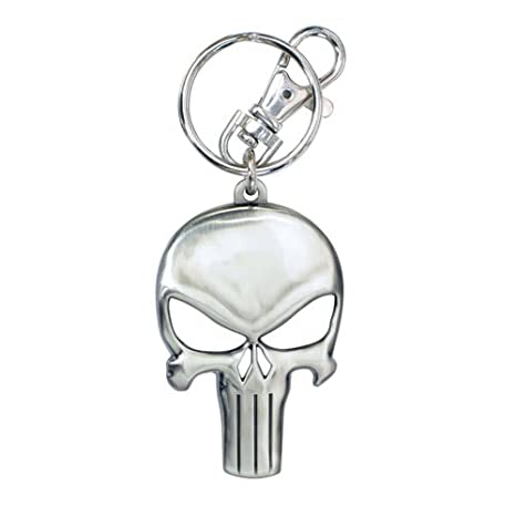Monogram- Marvel Llavero Logo The Punisher, Multicolor (67482)