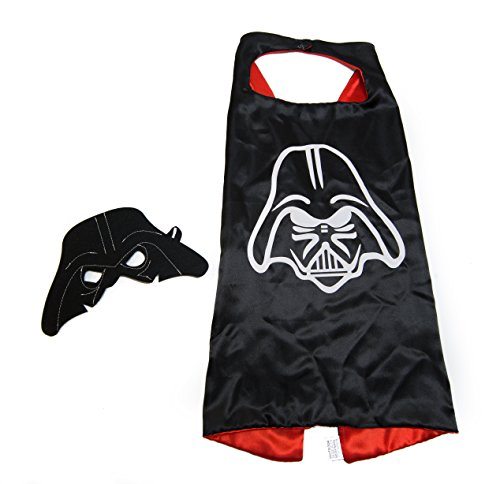 (Kids Capes Superhero and Princess Cape and Mask Sets, Great for Dressing Up with Costumes & Playing (Darth)