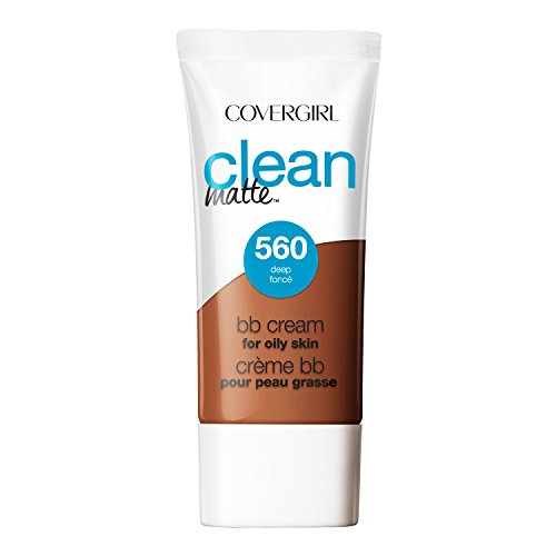 COVERGIRL Clean Matte BB Cream Deep 560 For Oily Skin, 1 oz (Bb Cream For Oily Skin)