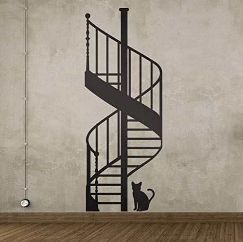 xbwy Spiral Staircase DIY Vinyl Wall Stickers Living Room Bedroom Children's Room Home Decorative Mural Art Wallpaper 45X90Cm