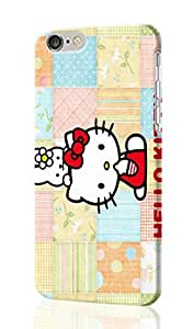 Kitty White and My Melody - Hello Kitty Pattersn Image - Protective 3d Rough Case Cover - Hard Plastic 3d Case - For iphone 4 4s -