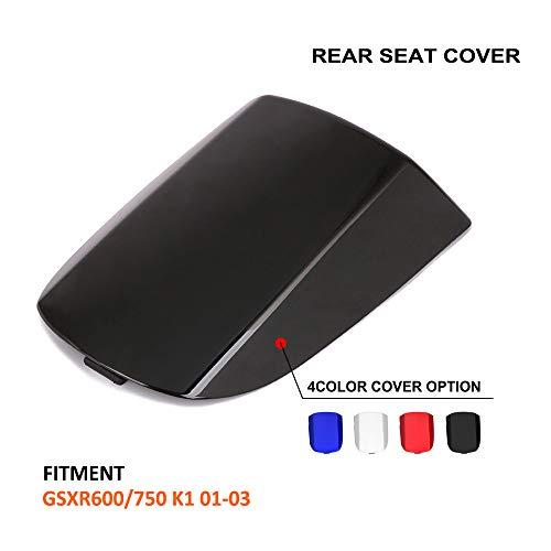 AnXin Motorcycle Black Rear Seat Cowl Passenger Pillion Fairing Tail Cover For Suzuki GSXR600 GSXR750 K1 2001-2003,GSXR1000 K2 2000-2002