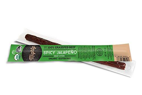 Organic Prairie, Mighty Stick, 100% Grassfed Beef Stick, Spicy Jalapeno, 0.75oz Beef Wrap