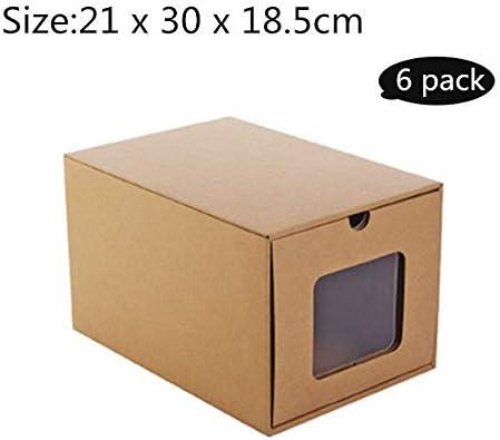 LHY SAVE Cajas De Zapatos 6 PCS De Caja Zapatos Transparente Plegable para Niños Y Mujer Caja Guardar Zapatos,21 * 30 * 18.5cm: Amazon.es: Hogar