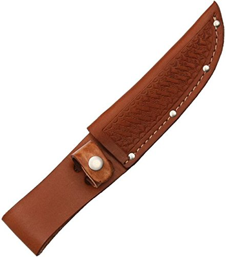 SHEATH Underwear Sheath Fixed Knife Sheath, Brown basketweave leather,Fits up to 5in blade
