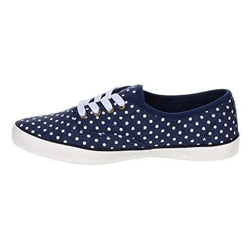 Bleeding Heart Polka Dot Canvas Shoes (Blue) VtEWFqR