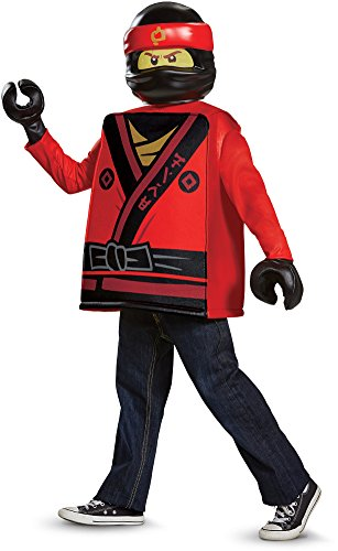 Kai LEGO Ninjago Movie Classic Costume, Red, Small (Red Ninjago Costume)