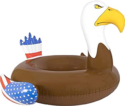 Inflatable Pool Floats & Rafts for Swimming Pool Bald Eagle Beach Summer  Time Party Fun - Adults Lake Floats or River Raft Floats - Floating in  Water ...