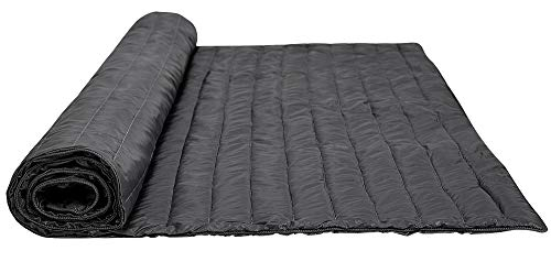 puredown Nylon Waterproof White Goose Down Indoor/Outdoor Camping Blanket Black ()