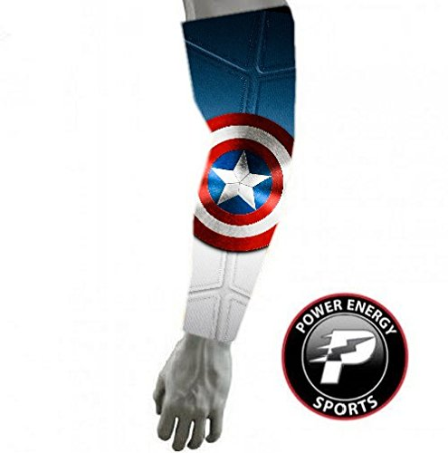 Captain America 2 Superhero Baseball Football Compression Arm Sleeve (Youth Med)