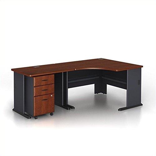 Bush Business Series A 3-Piece Corner Computer Desk in Hansen Cherry